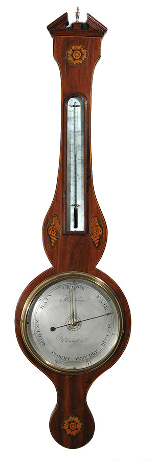 inlaid dial barometer by M. della Torre