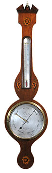 Dial barometer by Gally