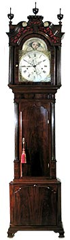 Antique grandfather clock - Fearnley three-train musical